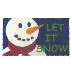 Let it Snow Hand Woven Coconut Fiber Doormat