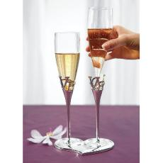 Love Heart Champagne Flutes
