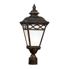 Mendham 1 Light Post Lantern In Hazelnut Bronze