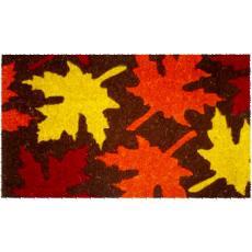 Maple Leaves Hand Woven Coconut Fiber Doormat