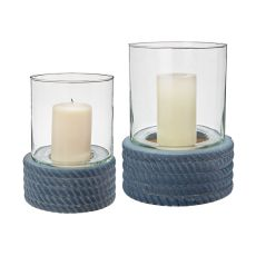 Coiled Rope Hurricanes - Set Of 2
