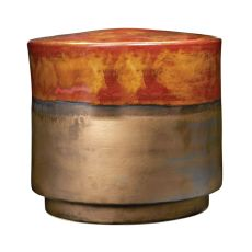 Coffee And Burnt Gold Garden Stool - Short