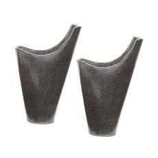 Reaction Filled Vases In Grey - Set Of 2