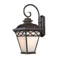 Mendham 1 Light Coach Lantern  In Hazelnut Bronze