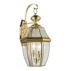 Ashford 2 Light Exterior Coach Lantern In Antique Brass