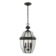 Ashford 3 Light Exterior Hanging Lantern In Black