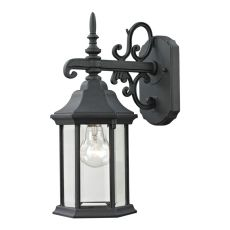Spring Lake 1 Light Exterior Coach Lantern In Matte Textured Black