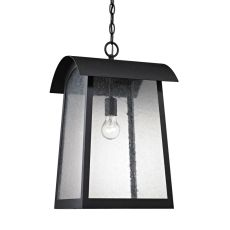 Prince Street 1 Light Exterior Hanging Lamp In Matte Black