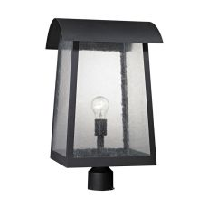 Prince Street 1 Light Exterior Post Lamp In Matte Black
