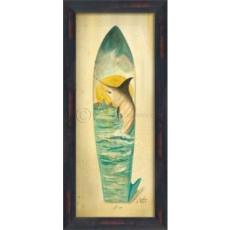 Marlin Surfboard Framed Art