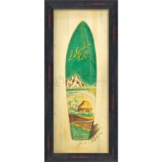 Island Life Surf Board Framed Art