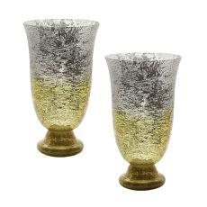 Lemon Ombre Flared Vase - Set Of 2
