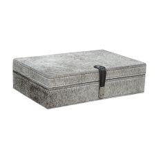 Grey Hairon Leather Box - Large
