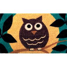 Wise Owl Hand Woven Coconut Fiber Doormat