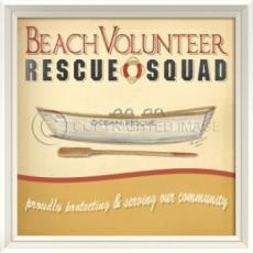 Beach Volunteer Rescue Squad Framed Art