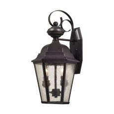 Cotswold 2 Light Exterior Wall Lamp In Oil Rubbed Bronze