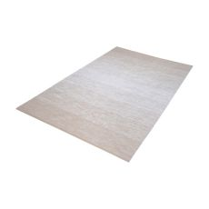 Delight Handmade Cotton Rug In Beige And White - 5Ft X 8Ft