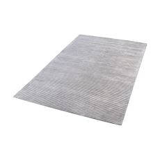 Logan Handwoven Viscose Rug In Silver - 5Ft X 8Ft