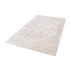 Logan Handwoven Viscose Rug In Ivory - 5Ft X 8Ft
