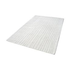 Blockhill Handwoven Wool Rug In Cream - 8Ft X 10Ft