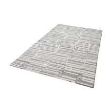 Slate Handtufted Wool Rug In Grey And White - 5Ft X 8Ft
