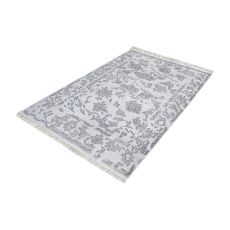 Harappa Handknotted Wool Rug In Grey - 5Ft X 8Ft