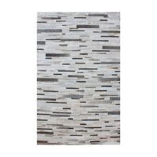Joico Hand Stitched Leather Patchwork Rug 36X60