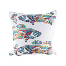 School of Fish Pillow With Goose Down Insert