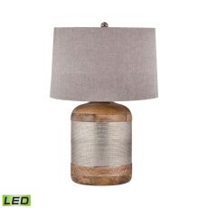 German Silver Drum Led Table Lamp