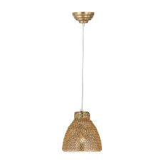 Maille 1 Light Glass And Iron Pendant In Gold
