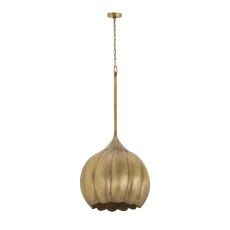 Iron Melon Large Ceiling Lamp