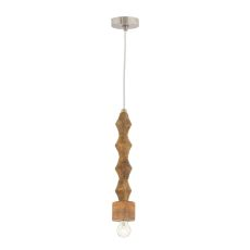 Wooden Spindle Pendant Lamp