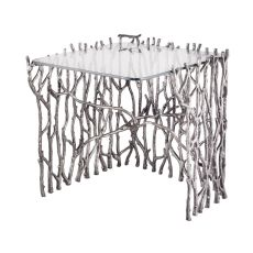Small Silvered Sticks Side Table