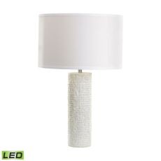 Rough Round Marble Led Table Lamp