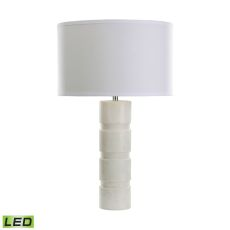 Round Stacked Marble Led Table Lamp