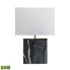 Grey Marble Square Led Table Lamp
