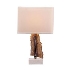 Minoa 1 Light Table Lamp In Natural Agate And Marble