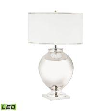 Massive Brass Globe Led Table Lamp