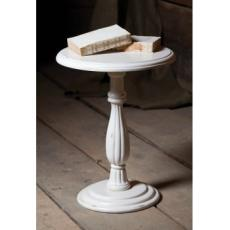 Mango Wood Pedestal Side Table