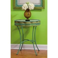 Blue and Green Occasional Table