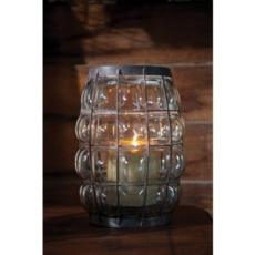 Barrel Shaped Metal Lantern