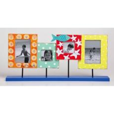 Funky Fish Wooden 4 Photo Frame