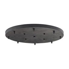 Illuminare Accessories 8 Light Round Pan In Dark Rust