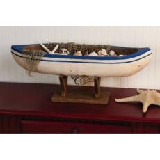 Mango Wood Boat on Stand Table Decor
