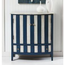 Cabana Blue and White Stripped 2-Door Cabinet