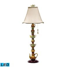 Tea Service Led Candlestick Lamp In Burwell Finish