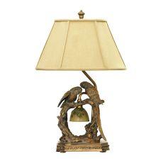 Twin Parrots Table Lamp In Atlanta Bronze