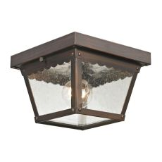 Springfield 2 Light Exterior Flush Mount In Hazelnut Bronze