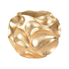 Wave Texture Vessel In Gold