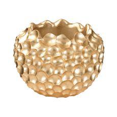 Vivo Coral Texture Vessel In Gold